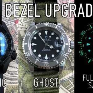 Upgrading Your Rolex, Tudor, Seiko & Squale Dive Watch Bezel For $10+
