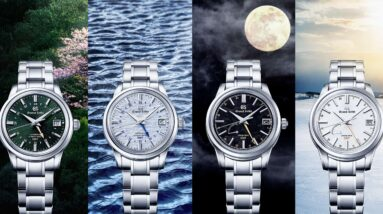grand seiko introduces a new series of gmt watches based on the changing seasons