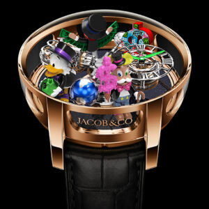 jacob co teams up with graffiti artist alec monopoly for a colorful limited edition watch