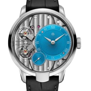 a closer look at the armin strom pure resonance sky blue with voutilainen dial