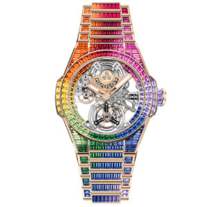 hublots new 790000 big bang tourbillion watches match the spectrum of the rainbow