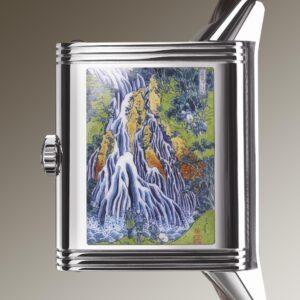 jaeger lecoultre elevates metiers d arts with reverso tribute enamel hokusai kirifuri waterfall