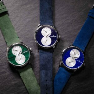 louis erard unveils the excellence regulateur with stone glass dials