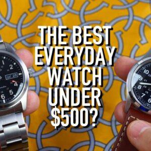 The Best Automatic Everyday Watch Under $500: Seiko SRPG27 vs Hamilton Khaki Field H70455533