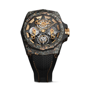 corum unveils admiral 45 automatic openwork flying tourbillon carbon gold watch at watches wonders 2021
