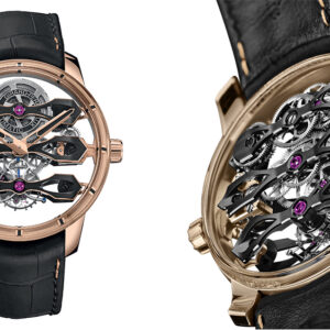 girard perregaux adds a 156000 pink gold tourbillon watch to its flying bridges collection