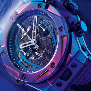 hublot and dj snake teamed up to release a colorful new big bang watch