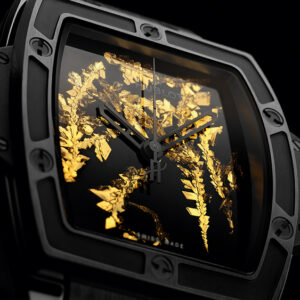 hublots latest watch uses lab grown gold crystals to light up the dial