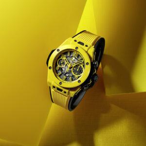 introducing the hublot big bang yellow magic watch as seen at watches wonders geneva 2021