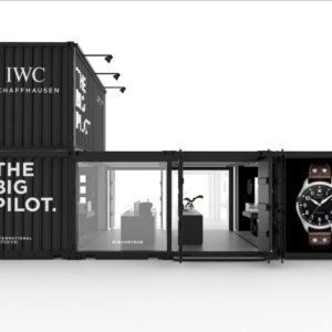 iwc designed a roving exhibition to take its big pilot watch across the united states