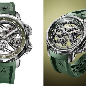 angelus unveils a limited edition dive watch with a skeletonized movement