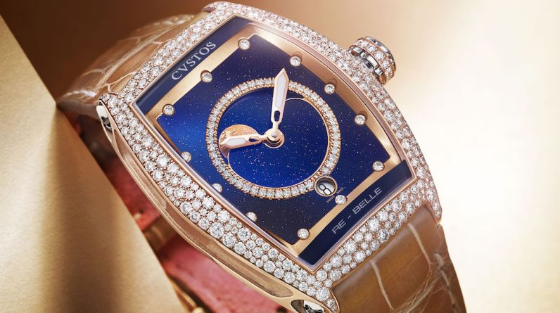 cvstos unveils re belle moonphase watches underscores the power of the rainbow