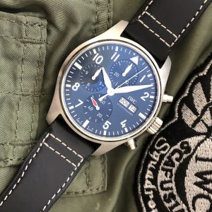 hands on with the new iwc pilot watch chronograph seen at watches wonders geneva 2021